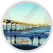 Surf's Up Round Beach Towel