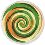 Swirl Round Beach Towel by Gaspar Avila