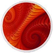 Swirls Two Round Beach Towel by Geraldine DeBoer