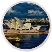 Sydney Opera House Australia Round Beach Towel