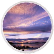 Round Beach Towel featuring the photograph Tahoe Wow by Sean Sarsfield