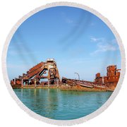 Tangalooma Wrecks Round Beach Towel