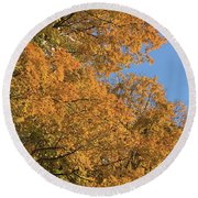 Leafmore Gold Round Beach Towel