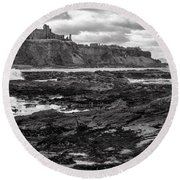Tantallon Castle Round Beach Towel