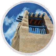 Taos Blue Round Beach Towel