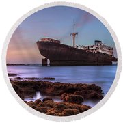 Temple Hall - Lanzarote Round Beach Towel