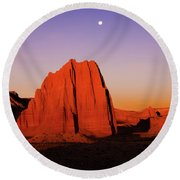 Round Beach Towel featuring the photograph Temple Of The Sun by Norman Hall