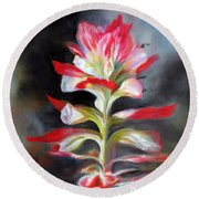 Texas Indian Paintbrush Round Beach Towel