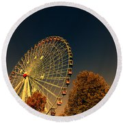 Texas Star Ferris Wheel Round Beach Towel