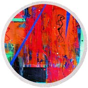 Textured Abstract Round Beach Towel by Carolyn Repka