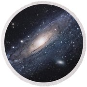 The Andromeda Galaxy Round Beach Towel