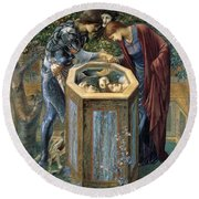 The Baleful Head Round Beach Towel by Edward Burne-Jones