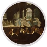 Round Beach Towel featuring the painting The Ballet From Robert Le Diable by Edgar Degas