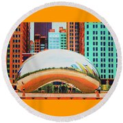 The Bean At Milly Park Round Beach Towel