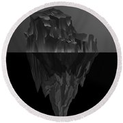 The Black Iceberg Round Beach Towel