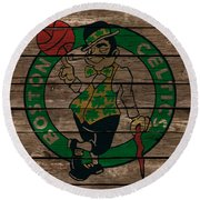 The Boston Celtics 1e Round Beach Towel by Brian Reaves