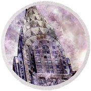 The Chrysler Building Round Beach Towel by Jon Neidert