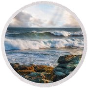 Round Beach Towel featuring the photograph A Clearing by Robin-Lee Vieira