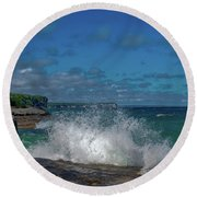 The Coves Round Beach Towel