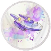 The Enterprise Round Beach Towel