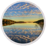 The Evening Light Round Beach Towel