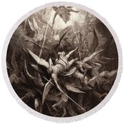 The Fall Of The Rebel Angels Round Beach Towel