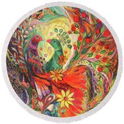 The Flowers And Fruits Round Beach Towel
