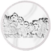 The Four Presidents Round Beach Towel