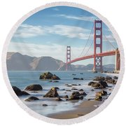 The Golden Gate Round Beach Towel