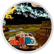 The Gorge One Sweet World Round Beach Towel by Joshua Morton
