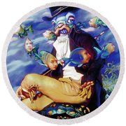 The Incompleat Angler Round Beach Towel by Patrick Anthony Pierson