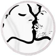 The Kiss Round Beach Towel