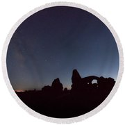 Round Beach Towel featuring the photograph The Milky Way by Jim Thompson