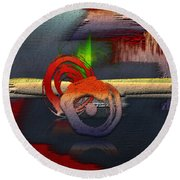 The Night Is Young Round Beach Towel