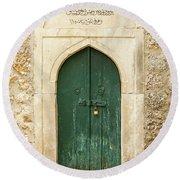 The Old Mosque Door Round Beach Towel