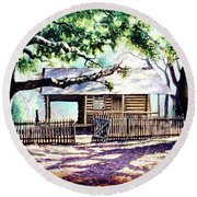 The Old Richardson Place Round Beach Towel