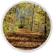 The Outlet Trail Round Beach Towel