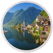 The Pearl Of Austria Round Beach Towel