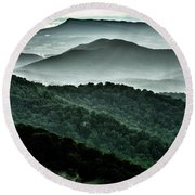 The Point Overlook Round Beach Towel