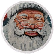 The Real Santa Round Beach Towel
