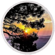 The Rising Sun Round Beach Towel by Nancy Marie Ricketts