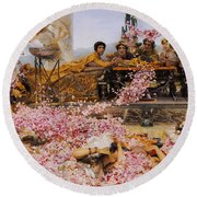 The Roses Of Heliogabalus Round Beach Towel