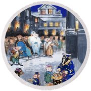 The Town Mouse And The Country Mouse Round Beach Towel