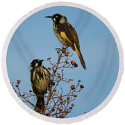Round Beach Towel featuring the photograph The Two Of Us by Mark Blauhoefer