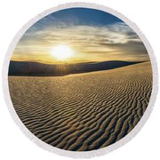 The Unique And Beautiful White Sands National Monument In New Me Round Beach Towel
