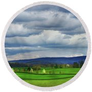 The Valley Round Beach Towel