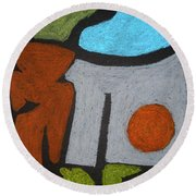The Weight Of Time Round Beach Towel
