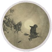 The Witches' Ride Round Beach Towel