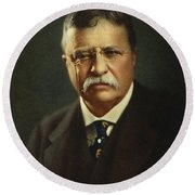 Theodore Roosevelt - President Of The United States Round Beach Towel by International  Images