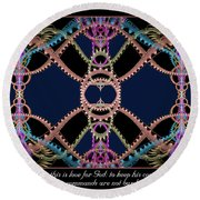 This Is Love Round Beach Towel